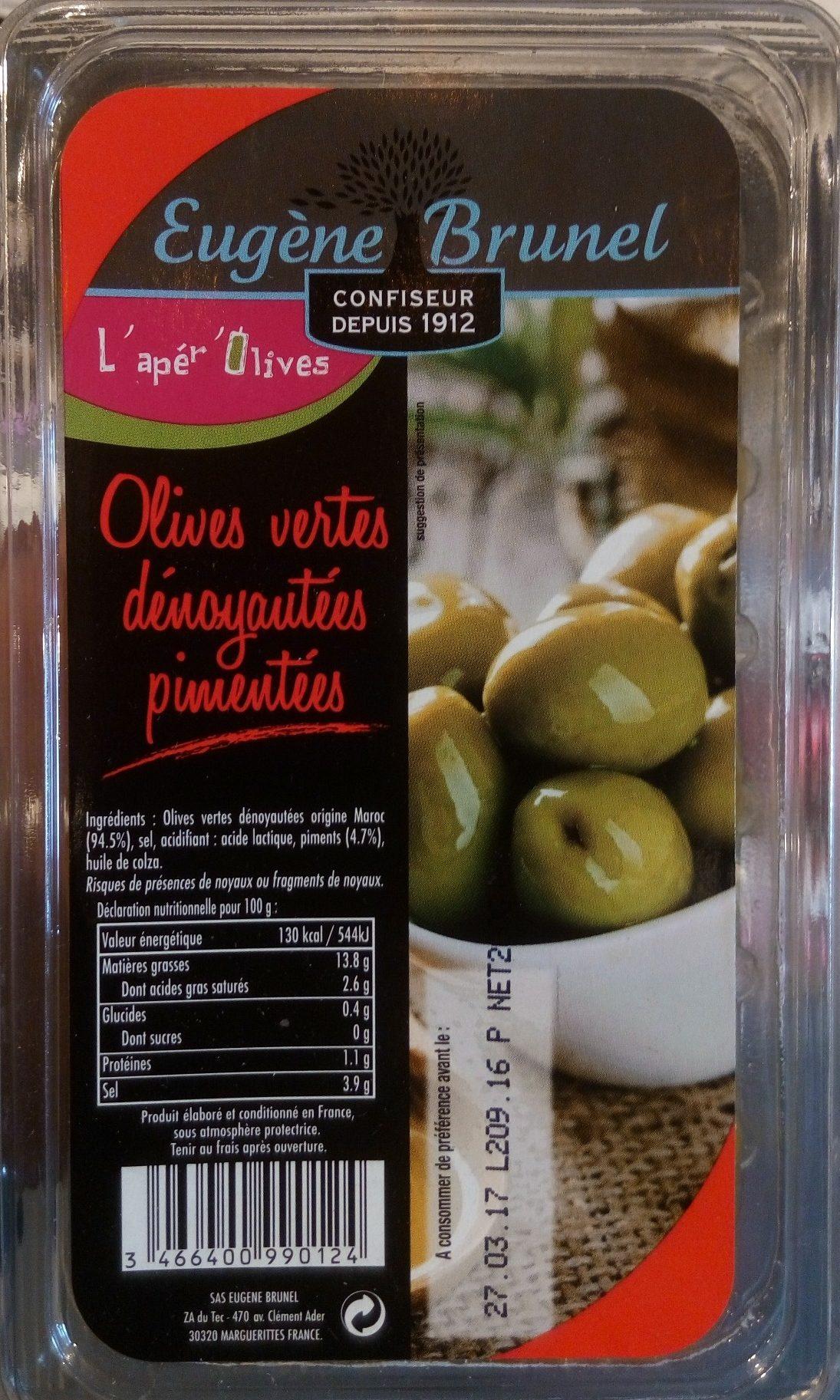 Olives Vertes Dénoyautées Pimentées - Product - fr
