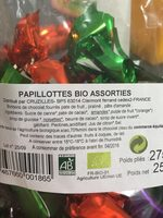 Papillotes Sachet - Ingrediënten - fr