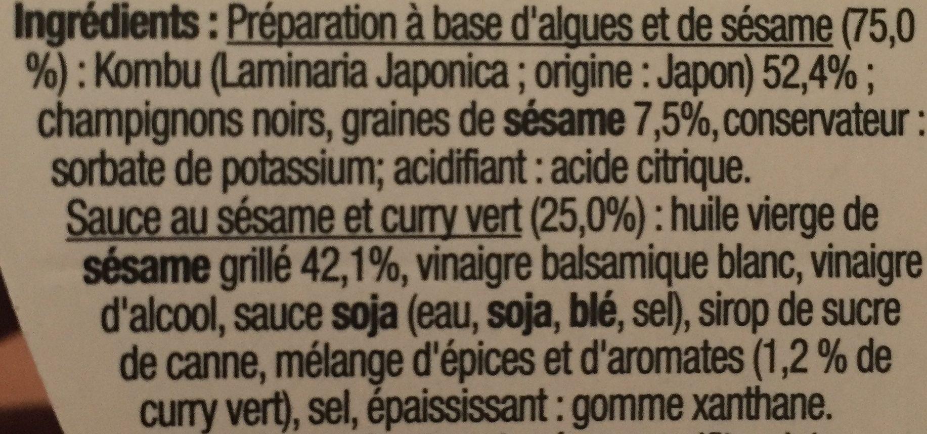 Sakade d'algues kombu - Ingredients