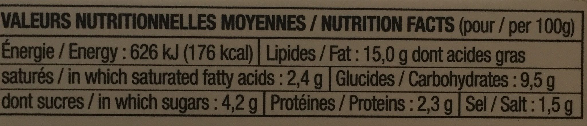 Sakade d'algues kombu - Nutrition facts