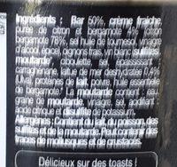 Rillettes de bar - Ingrédients - fr