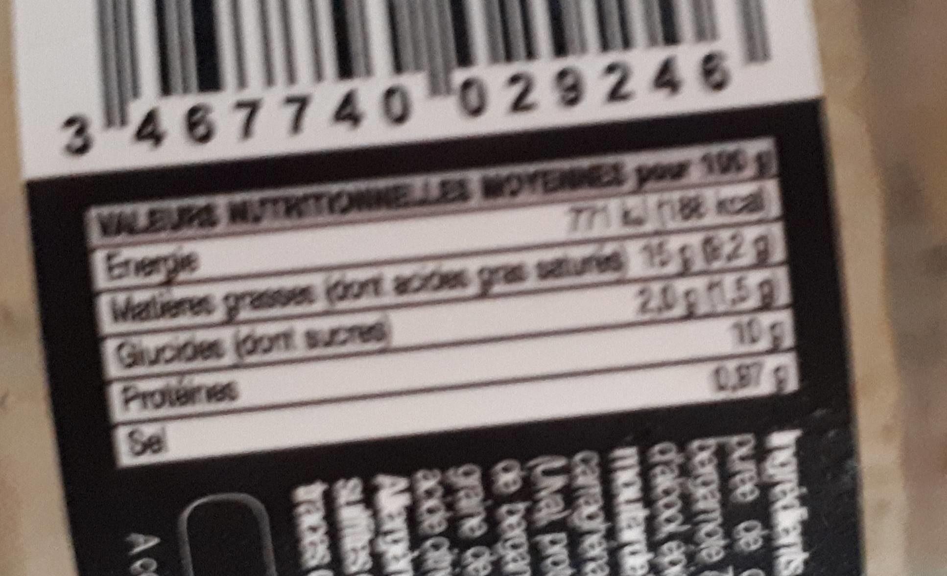 Rillettes de bar - Informations nutritionnelles