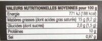 Rillettes de bar - Informations nutritionnelles - fr