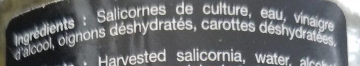 Salicornes au vinaigre - Ingrédients - fr