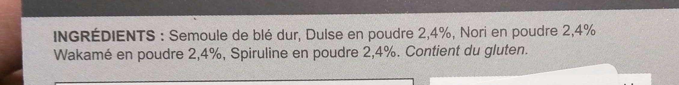 Torsadine - Ingrédients - fr
