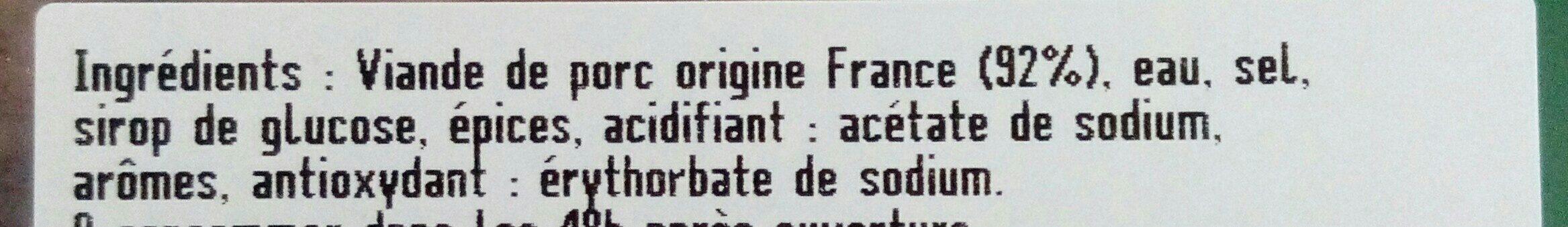 Chair à saucisse - Ingrediënten