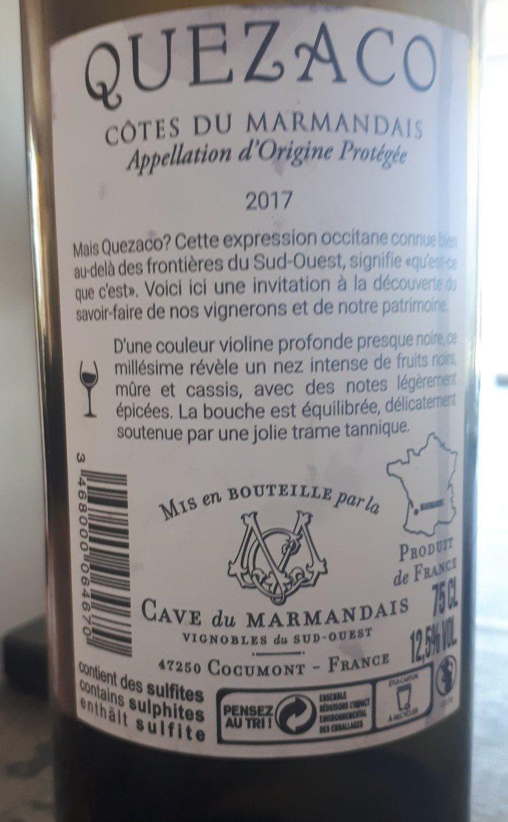 Quezaco - Ingrédients - fr