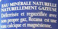 Rozana - Ingrédients - fr