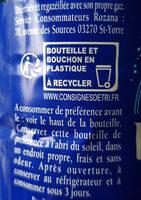 Rozana - Istruzioni per il riciclaggio e/o informazioni sull'imballaggio - fr