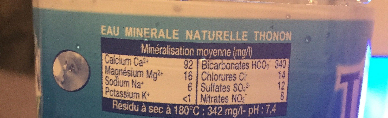 Eau minérale Naturelle des Alpes - Ingredients - fr