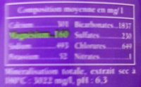 Rozana - Nutrition facts