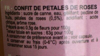 Rozenblaadjes Confituur - Ingrediënten