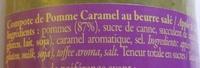Pomme caramel au beurre salé - Ingrédients