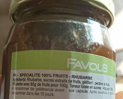 Confiture Rhubarbe - Ingrediënten