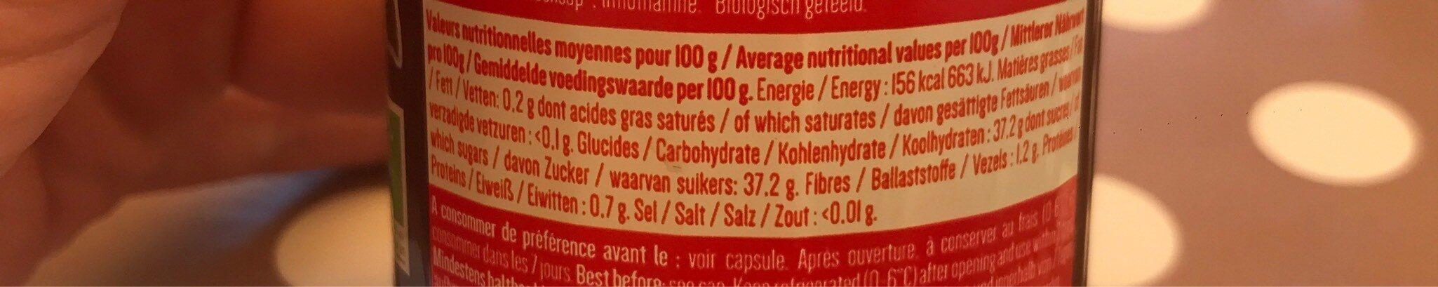 Sublim'bio fraise - Nutrition facts - fr
