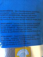 Bruggeman instant - Ingredienti - fr