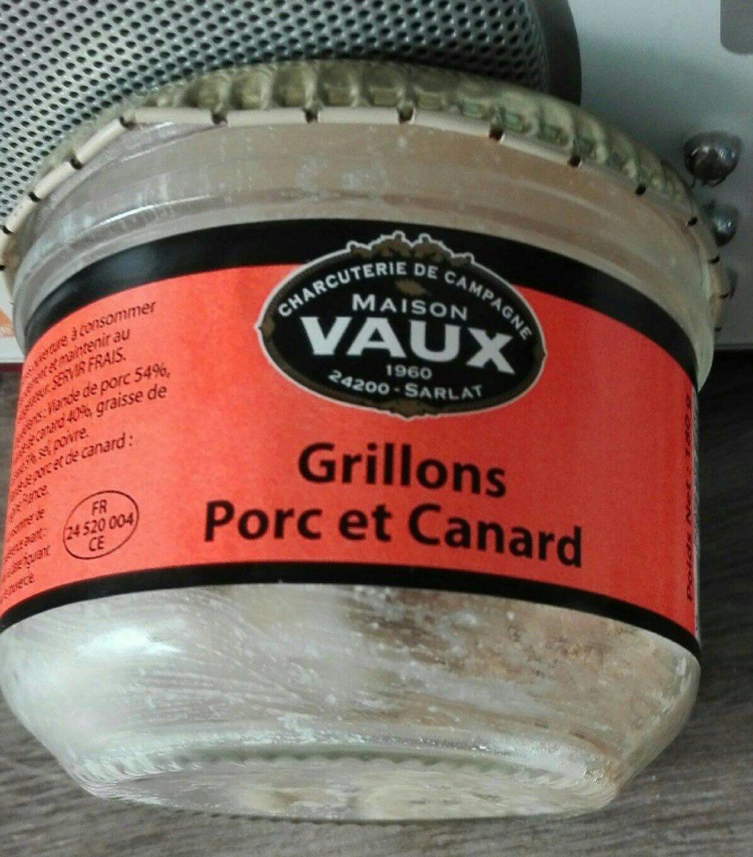 Grillons Porc et Canard - Product - fr