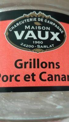 Grillons Porc et Canard - Ingredients