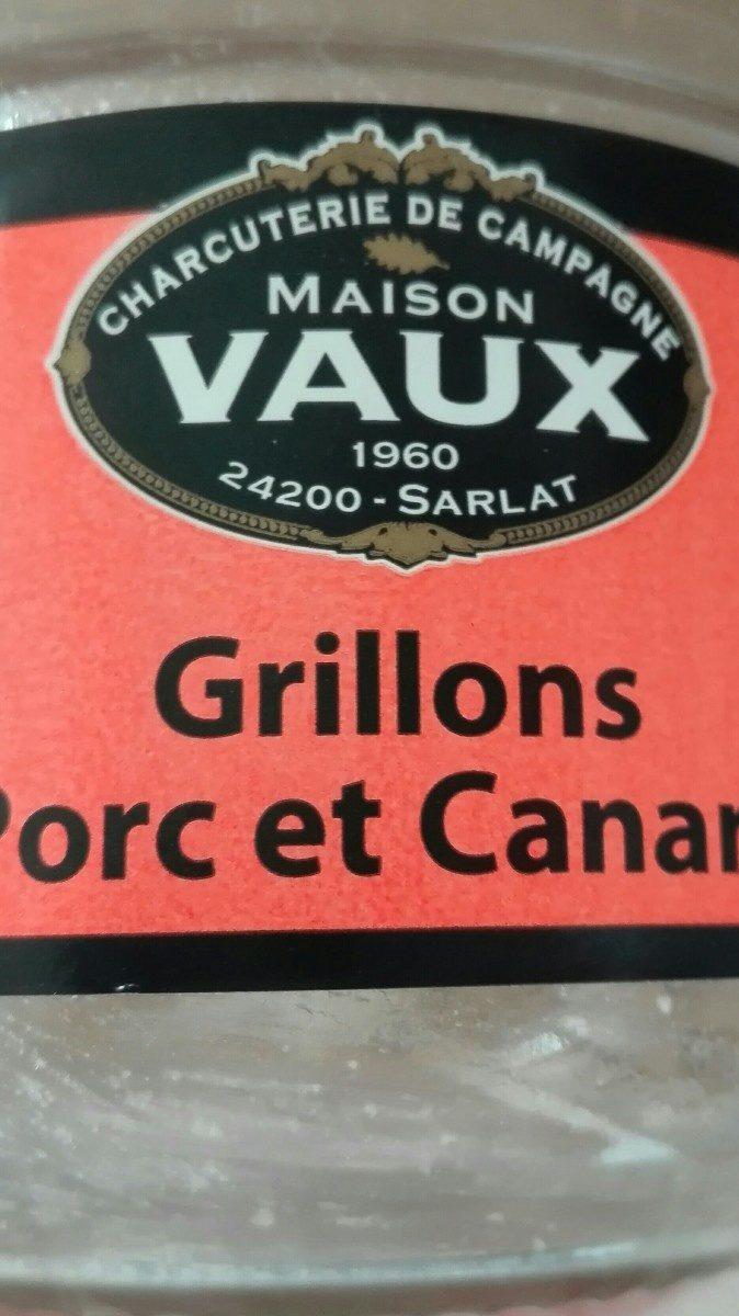 Grillons Porc et Canard - Ingredients - fr