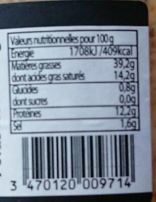 Pâté de campagne au piment d'espelette - Nutrition facts - fr