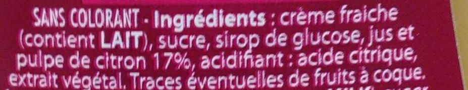 Pur Bonheur Citron à Tartiner - Ingredients