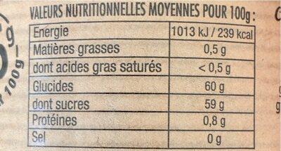 Fraise Rhubarbe - Informations nutritionnelles
