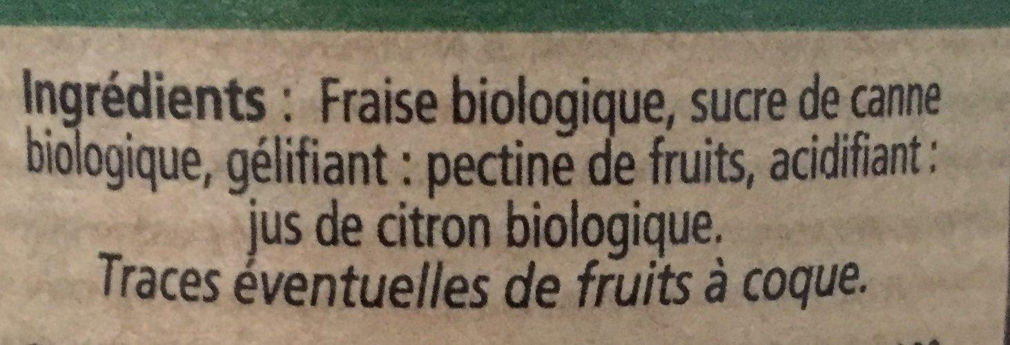 Conf 4 Saison Bio Fraise - Ingrédients - fr