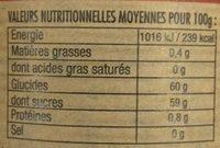 Mûre Framboise Cranberry - Informations nutritionnelles - fr