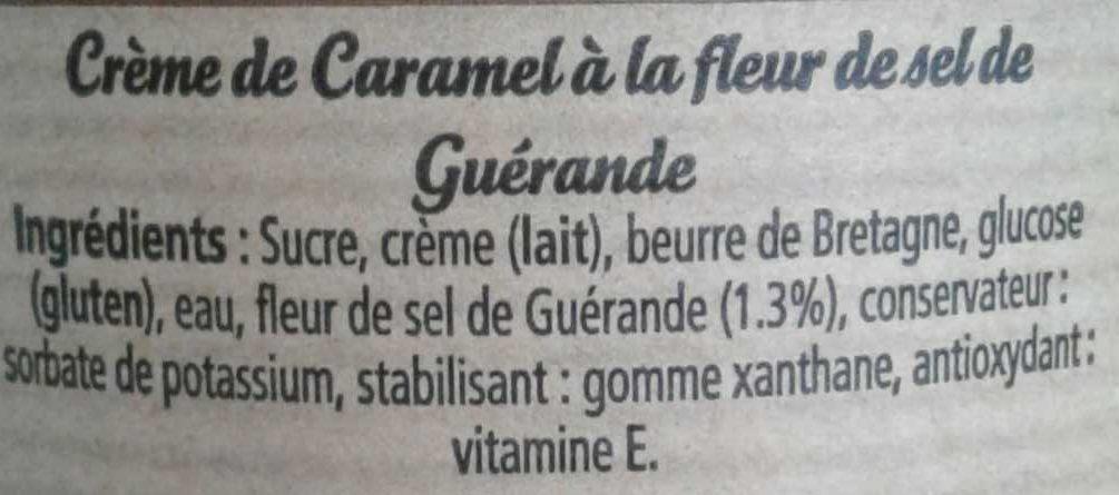 Crème de caramel à la fleur de sel de Guérande - Ingredients
