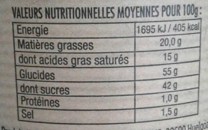 Crème de caramel à la fleur de sel de Guérande - Nutrition facts