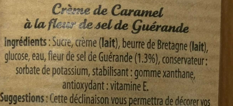 Crême de Caramel à la fleur de sel de Guérande - Ingrediënten