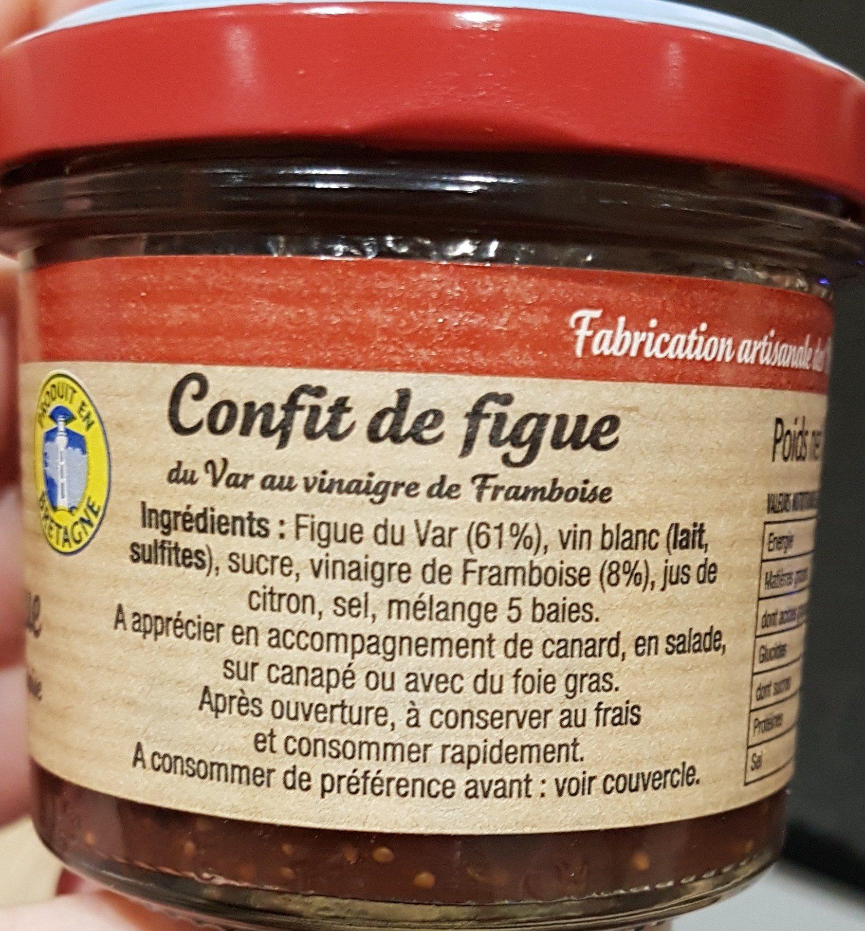 Confit de figue du Var au vinaigre de framboise - Ingredients