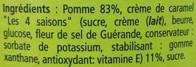 Compotee pomme caramel - Ingrediënten - fr