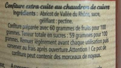 Abricot de la Vallée du Rhône - Ingrédients
