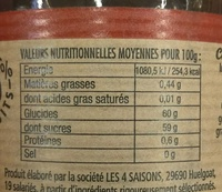 4 Fruits Rouges - Nutrition facts - fr