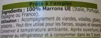 Marrons cuits - Ingrédients - fr