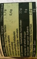 Marrons cuits - Informations nutritionnelles - fr