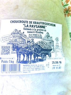 Choucroute de krautergersheim ren weber fils 1 kg - Choucroute de krautergersheim ...