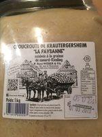 Choucroute de krautergersheim la paysanne - Ingrediënten - fr