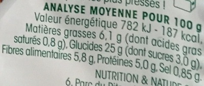 Galettes Courgette-Curry - Nutrition facts