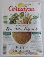 Galettes épinards-pignons - Produit