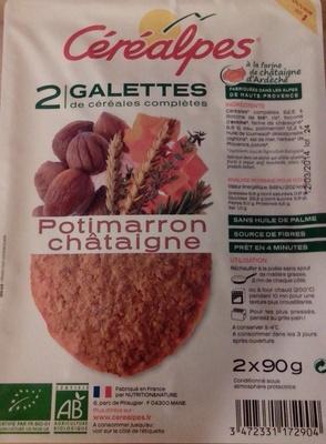 Galettes de céréales complètes Potimarron châtaigne - Product