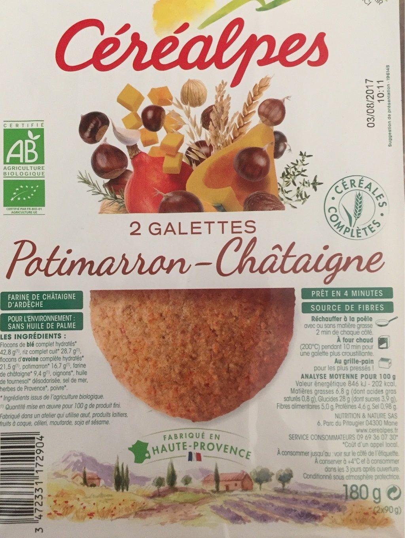 Galettes de céréales complètes Potimarron châtaigne - Nutrition facts