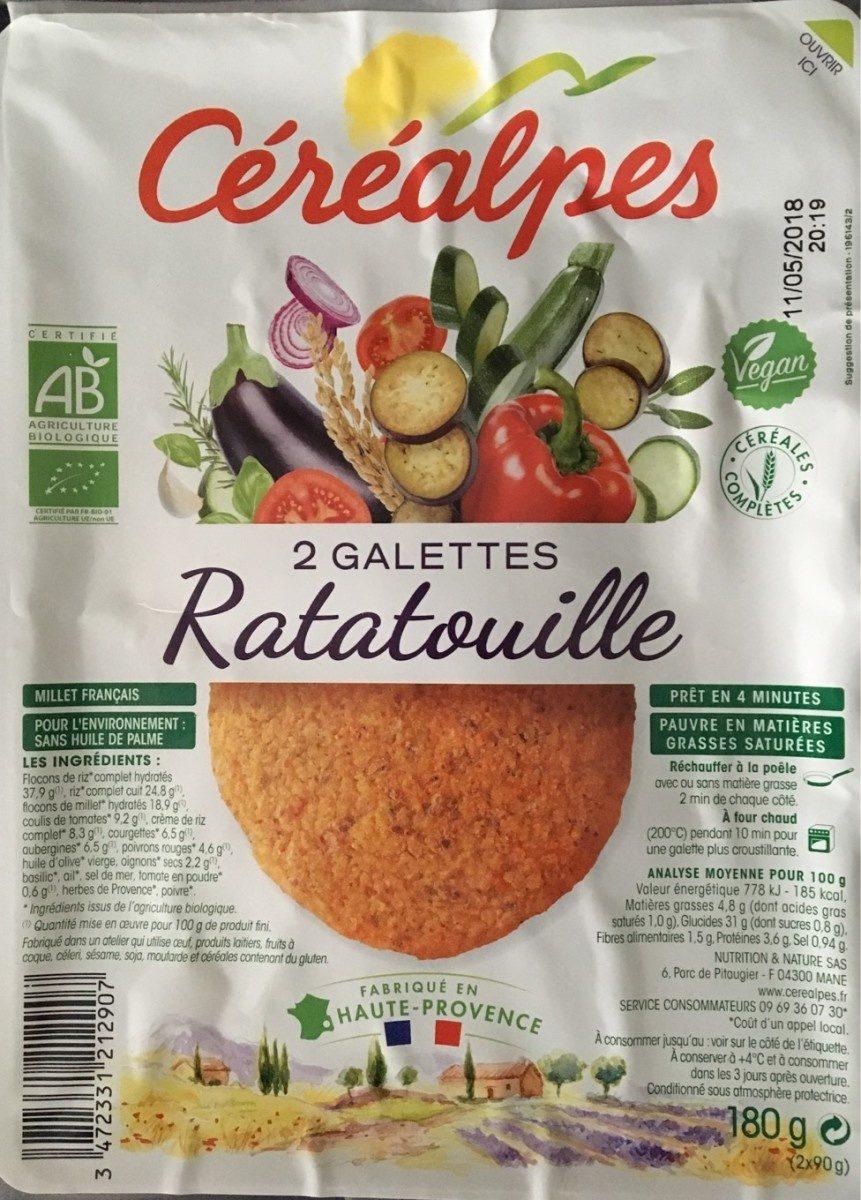 2 galettes Ratatouille - Product