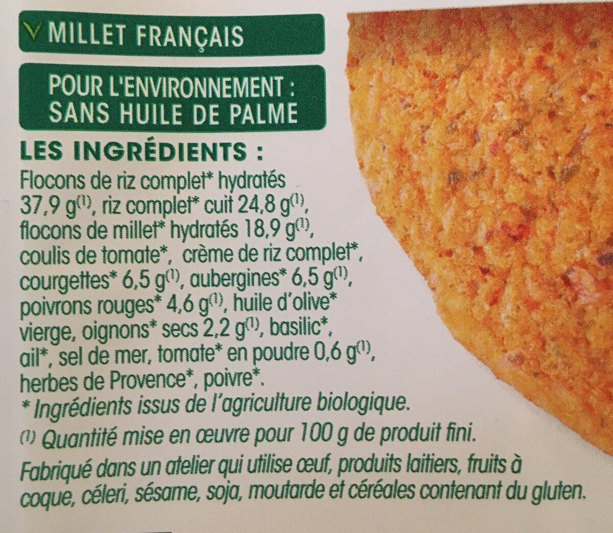 2 galettes Ratatouille - Ingredients