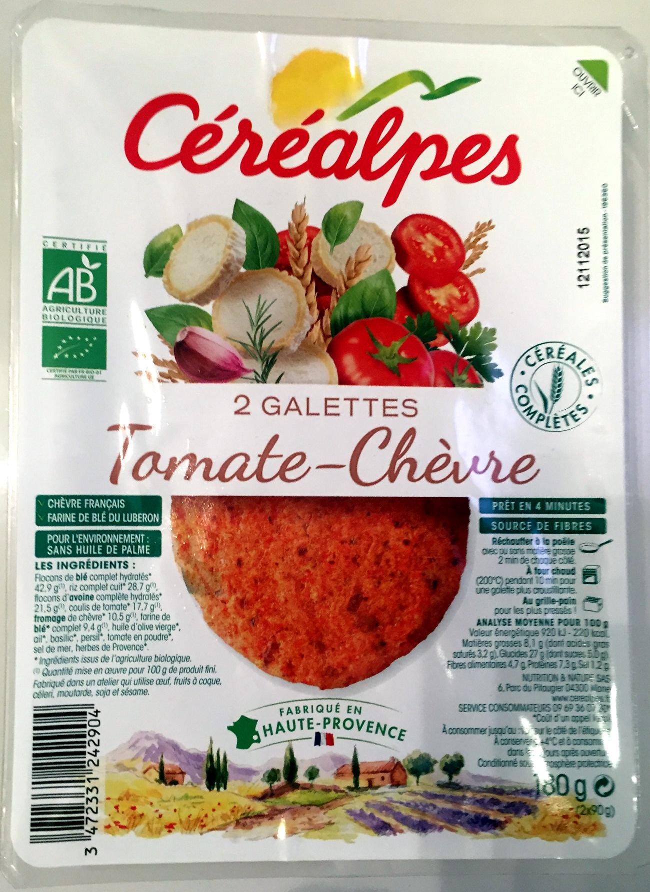2 Galettes Tomate - Chèvre - Produit - fr
