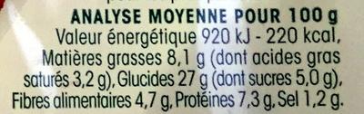 2 Galettes Tomate - Chèvre - Informations nutritionnelles - fr