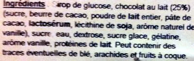 Ours lait - Ingrediënten - fr