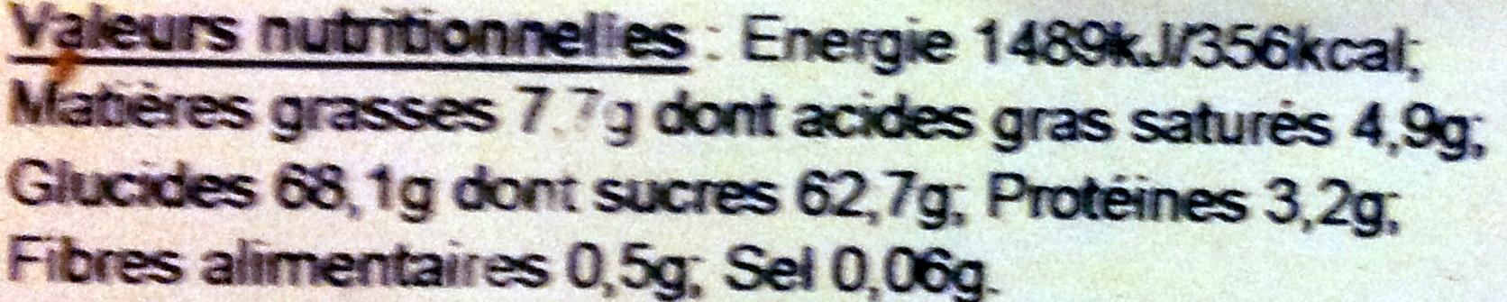 Ours lait - Voedingswaarden - fr