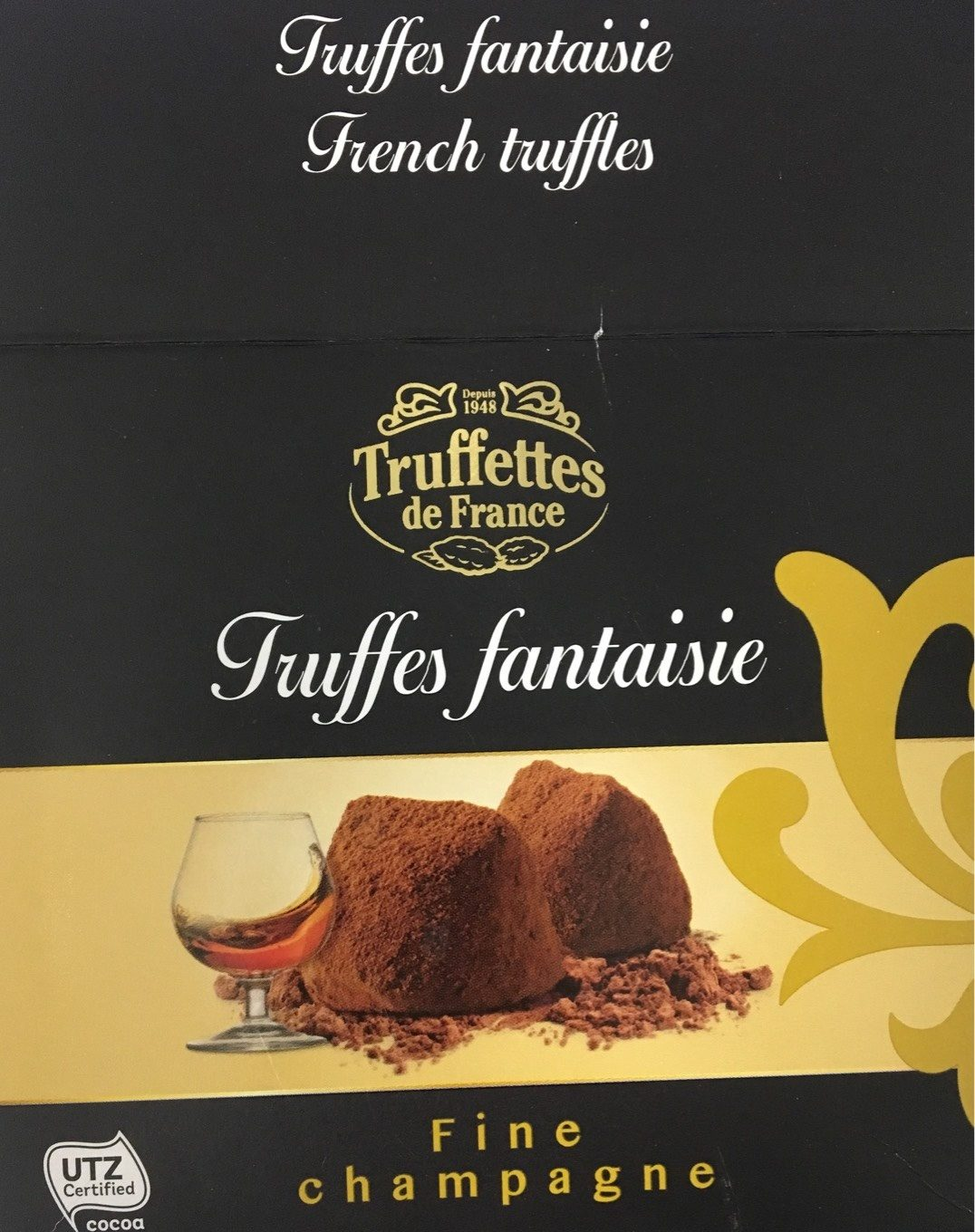 Chocmod Truffettes De France Fine Champagne French Truffles 200 G (pack of 4) - Product
